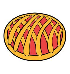 cherry pie icon cartoon vector image