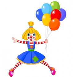 clown girl vector image