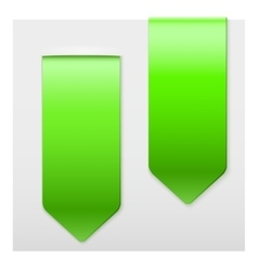 Set of Popular green ribbons sticker on top vector image