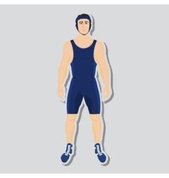 wrestler fighter vector image