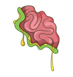 zombie brain icon cartoon style vector image vector image