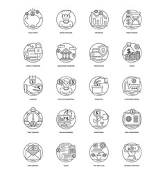 100 finance and banking icons vector