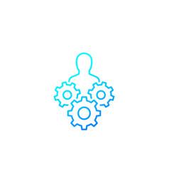 Abilities skills icon line vector