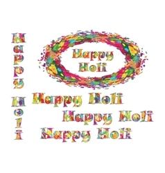 Abstract for Happy Holi colorful background vector