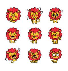 Adorable little lion cub character mascot 2 vector