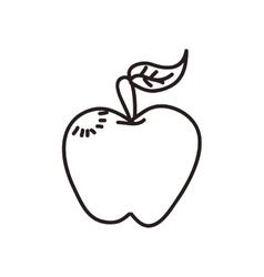 Apple icon sketch design graphic vector