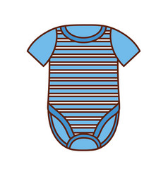 baby shower clothes boy fashion kid icon vector image