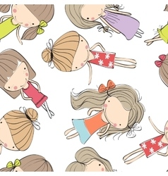 background cheerful children vector image