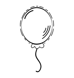 Balloon decoration desing vector