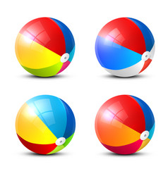 Beach ball icon colorful inflatable balls set vector