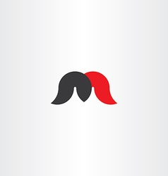Black red letter m logotype sign icon element vector