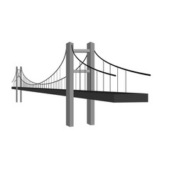 Bridge icon or simple logo bridge architecture vector