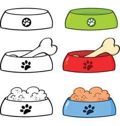 Cartoon food bowl vector