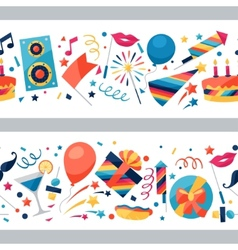 Celebration seamless pattern with party icons and vector