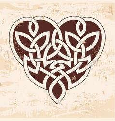 celtic heart ornament vector image