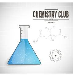 chemistry club vector image