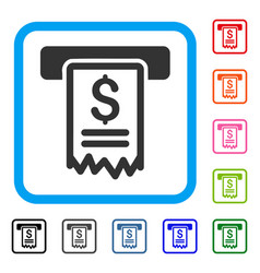 Cheque payment framed icon vector
