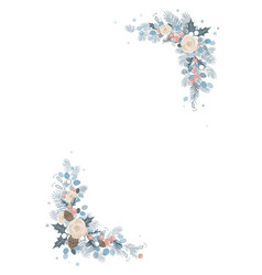 christmas decoration isolated frame on a white vector image