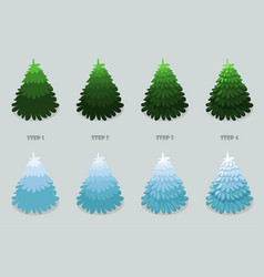 christmas tree cartoon design christmas vector image