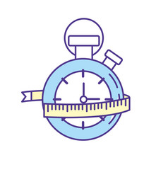 Chronometer with measuring to practice exercise vector