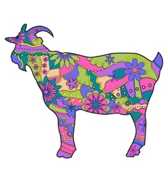 Colorful goat vector image