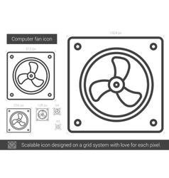 Computer fan line icon vector image