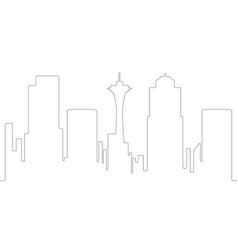 continous line syline of seattle vector image