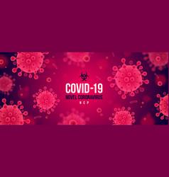 coronavirus red background novel vector image