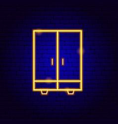 cupboard neon sign vector image