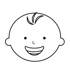 cute baby boy character vector image