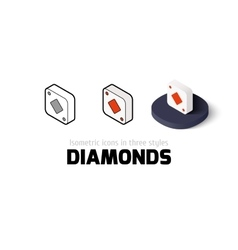 Diamonds icon in different style vector image