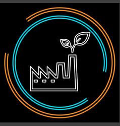 eco power plants and facilities icon vector image