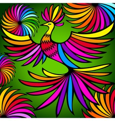 Exotic colorful bird vector