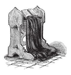Faldstool vintage vector