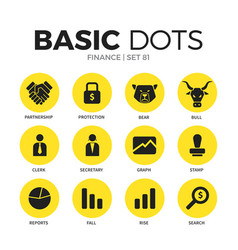 finance flat icons set vector image vector image