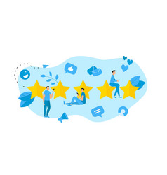 Five star customer rating concept feedback vector