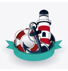 Flat about Lighthouse design vector image