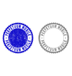grunge perpetuum mobile scratched stamp seals vector image