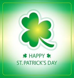 happy st patricks day greeting card 3 vector image