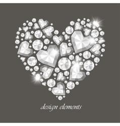 Heart diamonds vector
