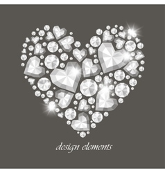 Heart of Diamonds vector