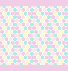 Hexagon seamless pattern in pastel colors vector