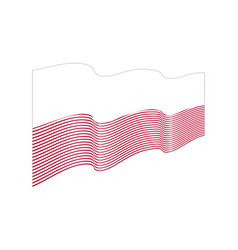 indonesia flag on white background wave st vector image