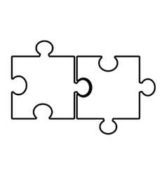 isolated puzzle pieces graphic vector image