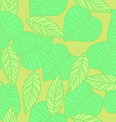 Leaves seamless pattern in vintage style vector image