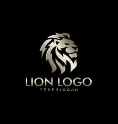 Lion head logo design template vector
