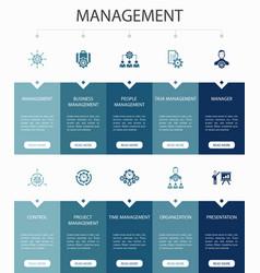 Management infographic 10 steps ui designmanager vector