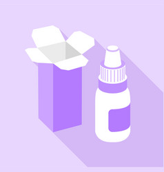 nose spray icon flat style vector image