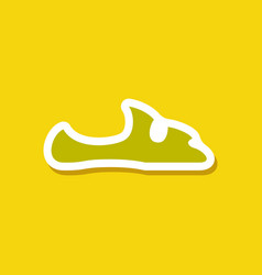 Paper sticker fashion footwear flip flops vector