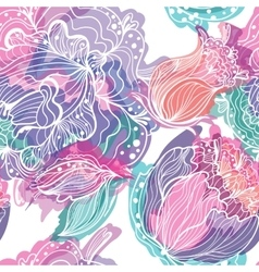 Pattern with Magic Light Flowers vector image